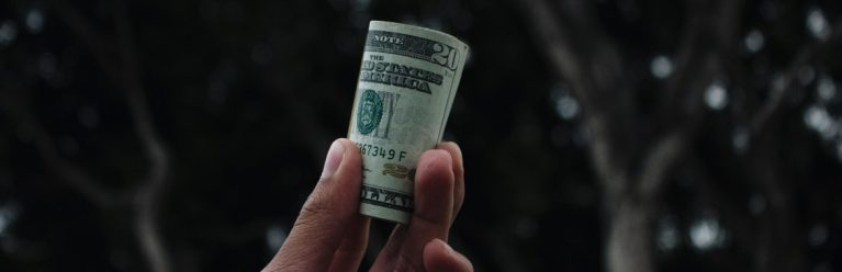 20 Doller Schein für die Geld Forderung